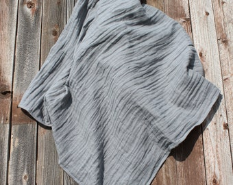47x47 Solid Gray Muslin/Double Gauze Swaddling Blanket