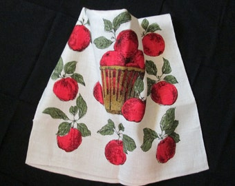 Baskets Of Apples 100% Linen Dish/Tea Towel
