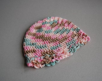 Cherry Blossom baby hat - newborn ready to ship