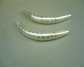 Hill Tribe Silver 35mm Curved Wrap Tube Set of 2
