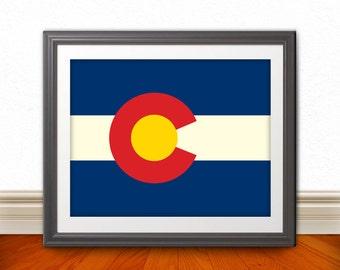 Colorado, Colorado Flag, Colorado Print, Colorado Home, Colorado Wall Art, Colorado Poster, Colorado State Art, Colorado Decor