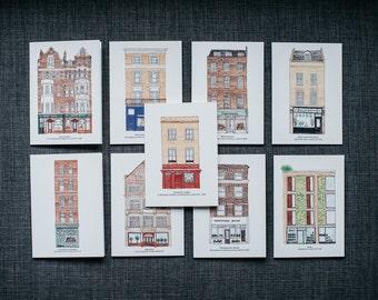 Buchhandel London Grußkarten-Set