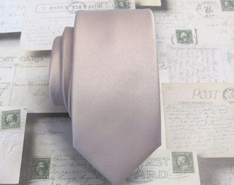 Mens Ties Rose Gold Dusty Pink Blush Quartz Inspired Mens Skinny Neckties With *FREE* Matching Pocket Square Set