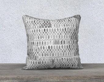 Gray Throw Pillow, Gray Pillow Cover, Gray Accent Pillow, Velveteen Pillow, Gray Decor, Gray Lumbar Pillow, 14x20, Gray Pillowcase