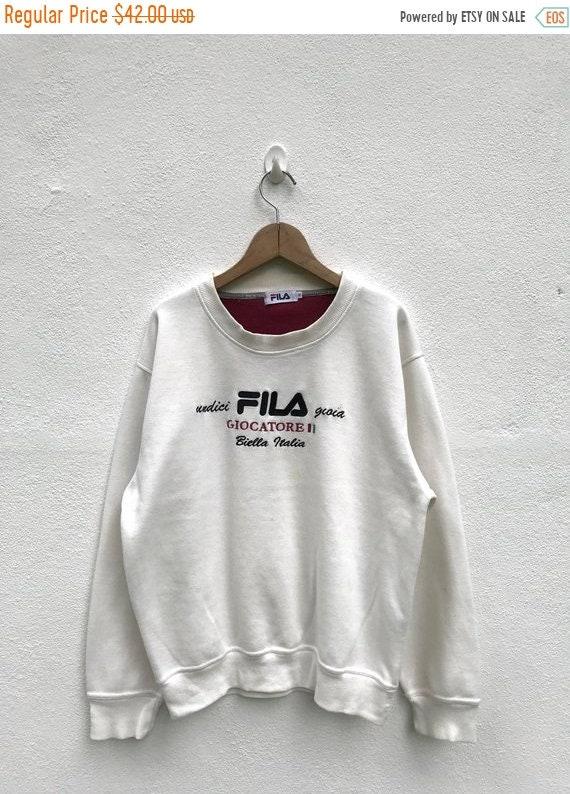20% OFF Vintage Fila Giocatore Sweatshirt   Fila Big Logo   6d4fb00d29e7b