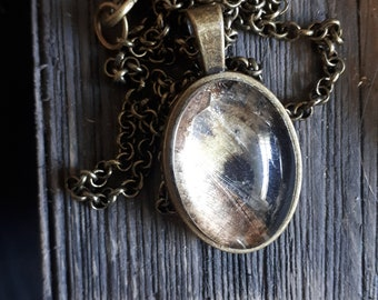 Insect Wing Cameo Necklaces