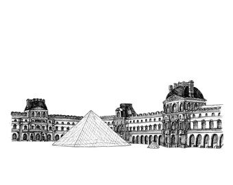 Le Louvre – Greeting Card