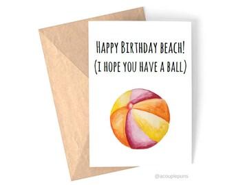 Birthday Beach// Beach Lover Card, Birthday Card, Birthday Card for Friend, Funny Birthday Card, Card for Her, Britney Spears Card