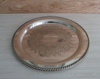 Wm A Rogers Silver Platter/Silver Platter/Round 15 inch Silver Platter