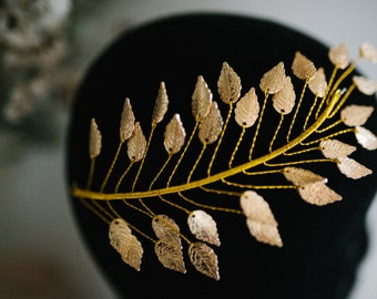 Golden Wedding Bridal headdress.