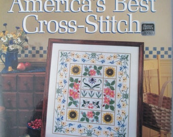 Counted cross stitch book  America's Best Cross-Stitch by Better Homes and Gardens how to book 192 pages hardbound book used