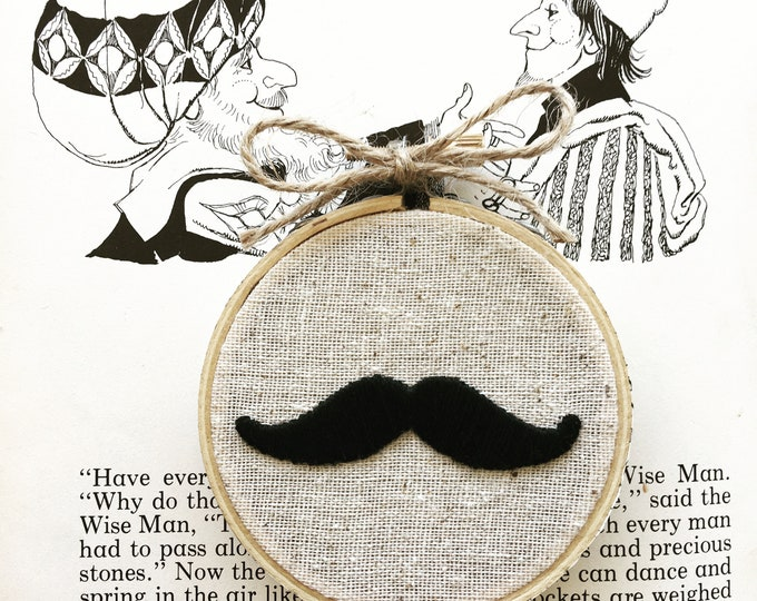 embroidery kit // Mustache - who's your daddy? - father's day embroidery kit
