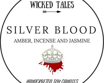 Silver Blood || Red Queen Inspired Soy Candle