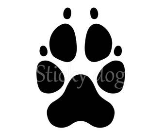 Dog paw silhouette sticker