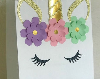 NEW Magical Fairytale Unicorn Birthday Party Favor Bags