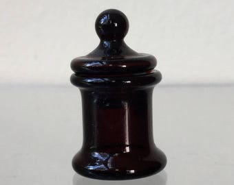"Dollhouse Miniature 1"" Scale Amber Glass Jar  (JL)"