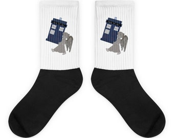 The Angels Have The Phone Box Doctor Who Socks