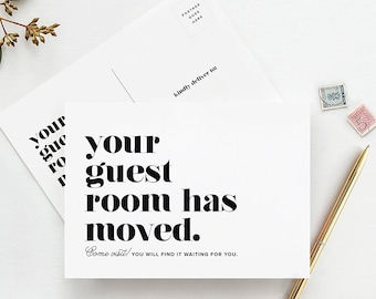 Moving Announcement Postcards, Your Guest Room Has Moved, Just Moved Post Cards, We've Moved, Change of Address Cards, Pack of 50 — from...