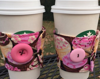 Coffee wraps! pink-breast cancer awareness survivor fighter