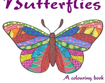Doodle Butterflies- A Zentangle-Inspired Adult Coloring Book