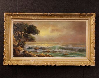 French signed seascape painting