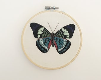Butterfly Embroidery Hoop Art