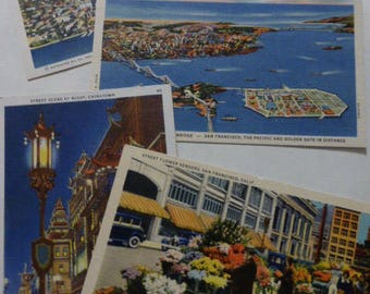 vtg CHINATOWN & San Francisco California Postcards / Lot Group Collection of Nine (9) / Real Photo Novelty Postcards / FREE SHIP usa