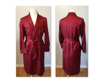 Vintage 50s Mens Lounging Robe M Red Smoking Jacket by Mister Ease by Rochester