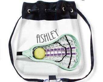 Custom Lacrosse Bag-Personalized Lacrosse Bag-LaX Backpack-Cinch Sack Backpack-Drawstring Bag-Messenger Bag-Cinch Bag-Teen Gift Ideas