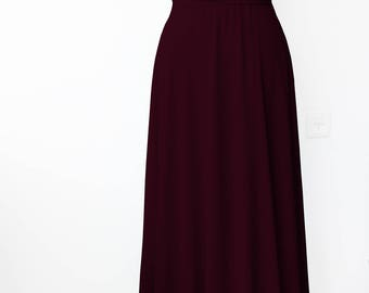 Bridesmaids dress  Tailored to Size & Length Infinity Dress - floor length with chiffon skirt in bordo color