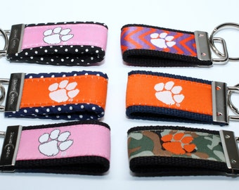 Clemson University web key chains