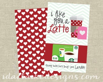 Teacher Appreciation/Kids Valentine Digital Download | Latte