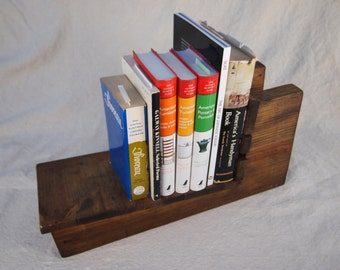Recycled Wood Book Shelf Rustic Home Decor Distressed Wood Book Rack