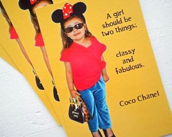 "CLASSY FABULOUS Postcards Set of 4 Fashion Forward Girlfriend by RememberMeEmily 4"" x 6"""