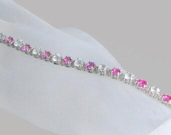 Pink and White Topaz Bracelet - Free Shipping Far Below Retail