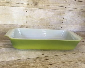 Anchor hocking Fire King olive green casserole dish