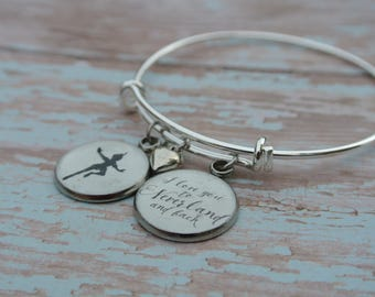 Peter Pan // I love you to Neverland and back bracelet //Peter Pan charm // Peter Pan bracelet // Available in antique gold or silver