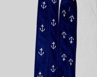 Men's Suspenders - Suspenders for Men - Wedding Suspenders - Navy Suspenders  - Navy with Anchors -  Out to Sea by Sara Jane - Nautical