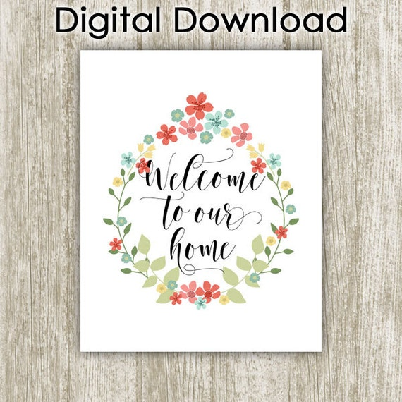 welcome home printable - Ideal.vistalist.co