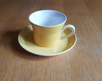 Yellow Mikasa Duplex by Ben Seibel Coffee/Tea Cup and Saucer