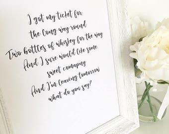Cups Lyrics Print, Pitch Perfect, Song Lyrics, When I'm Gone Lyrics Print