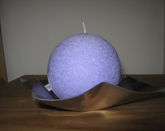 velour ball  danish  candles pack of 2