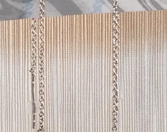 Silver Ball Threader Earrings