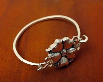 Blossom Tension Bracelet in Sterling Silver