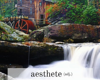 Quote & Art Digital Print| Aesthete- someone with a deep sensitivity to the beauty of art or nature.