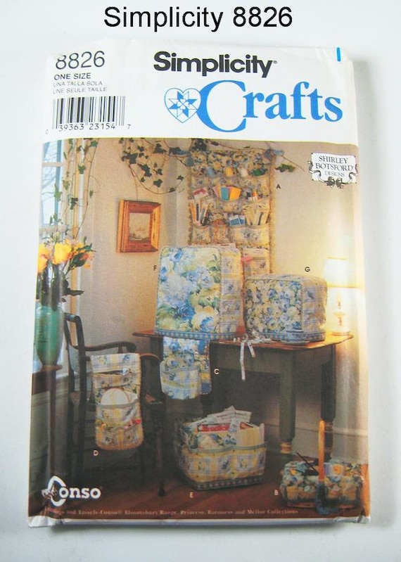 Simplicity Crafts Pattern 8826 Sewing Machine And Serger