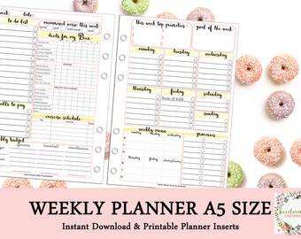 Islamic WEEKLY PLANNER by Kecilmamil (A5 Size - PRINTABLE - Instant Download)