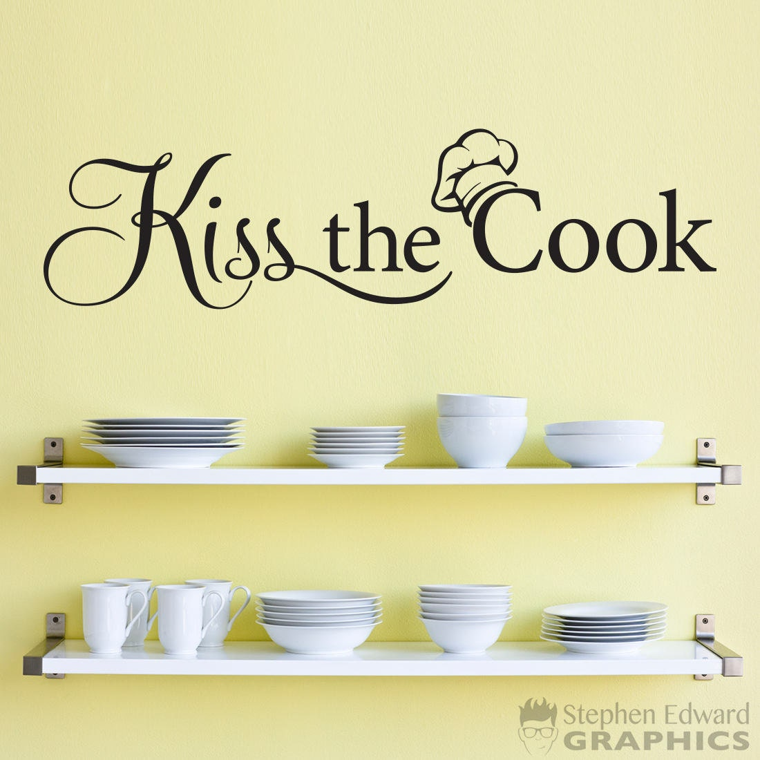 Nice Kiss The Cook Wall Decor Gallery - The Wall Art Decorations ...
