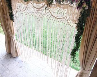 Lydia* Bohemian macrame wedding arch / Wedding backdrop / Rental