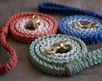 Dog leash/macrame dog leash/macrame/ombre dog leash/dyed dog leash/dog accessories